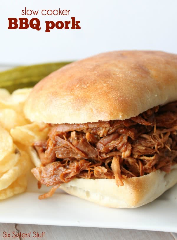 Easy Slow Cooker BBQ Pulled Pork Sandwiches