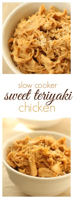 Slow Cooker Sweet Teriyaki Chicken pin
