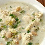 Creamy Chicken Chili on SixSistersStuff.com