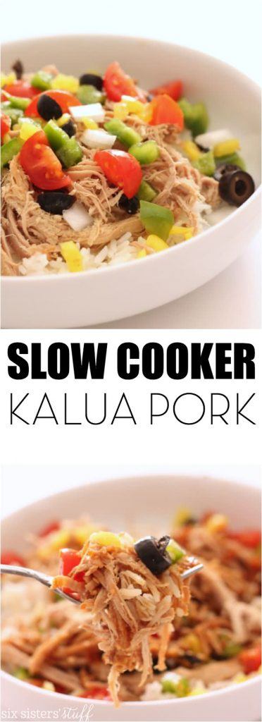 Slow Cooker Kalua Pork Six Sisters
