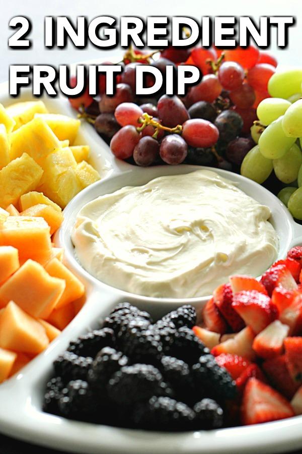 2 Ingredient Cream Cheese Fruit Dip