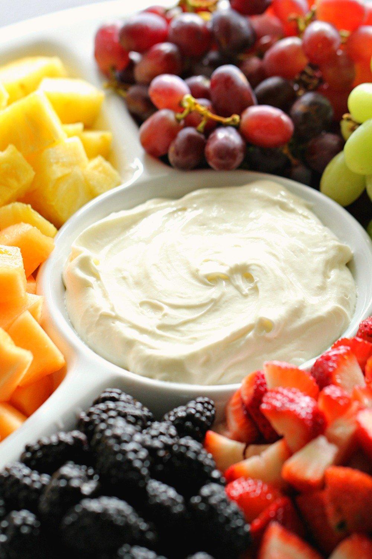 Easy 2 Ingredient Cream Cheese Fruit Dip