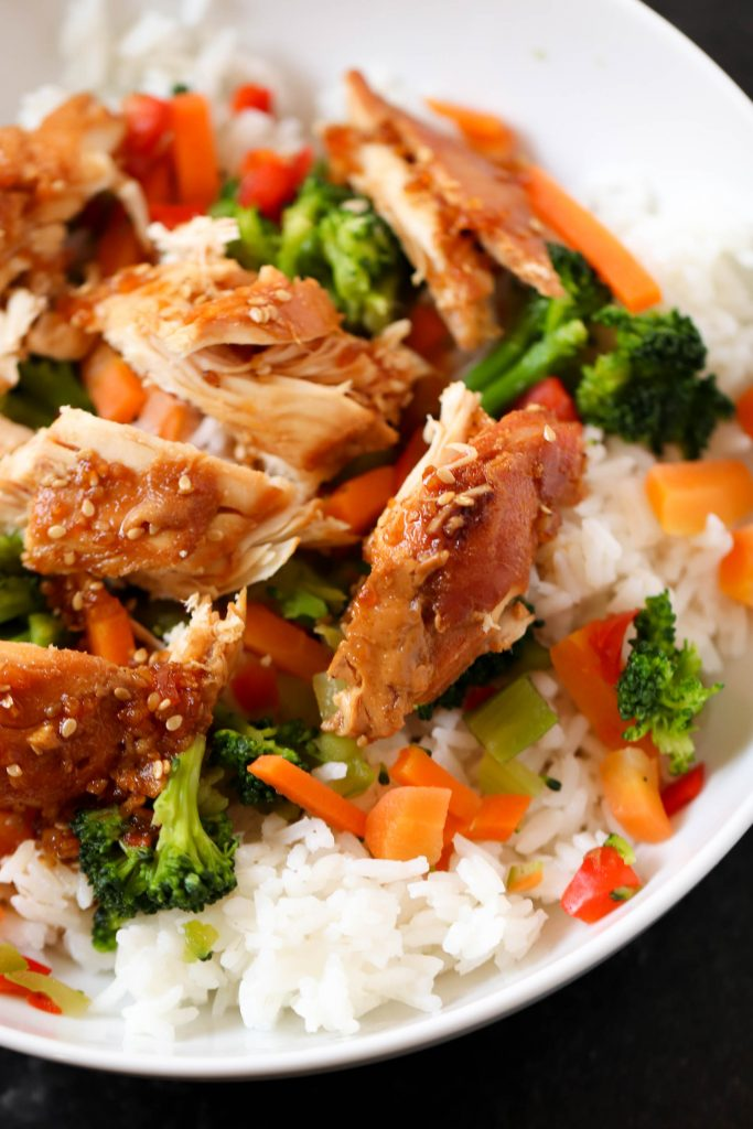 Slow Cooker Teriyaki Chicken And Stir Fry Six Sisters Stuff