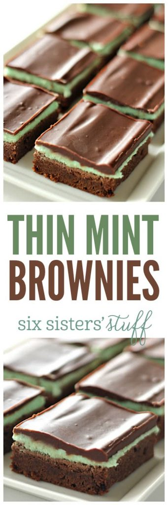 Thin Mint Brownies from SixSistersStuff