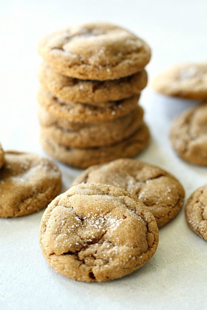 Stacked ginger cookies