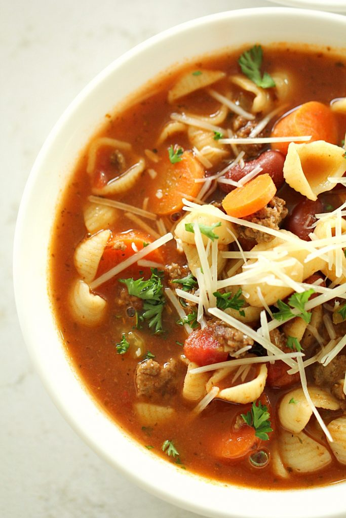 The Best Minestrone Soup With Italian Sausage Six Sisters Stuff