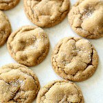 Soft and Chewy Ginger Cookies flat lay