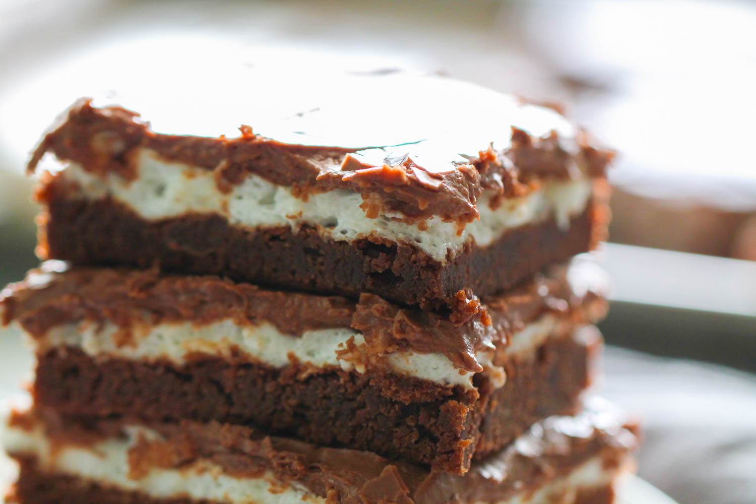 Stacked brownies
