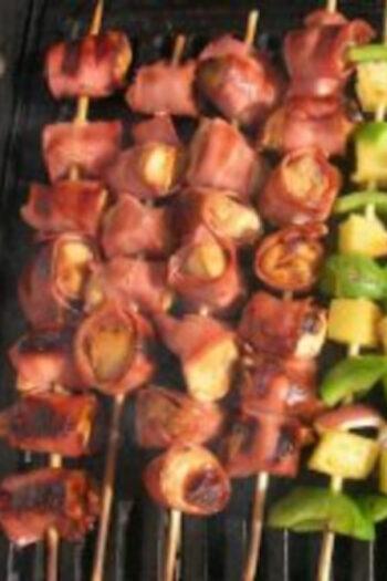 Chicken and Bacon Shish Kabobs