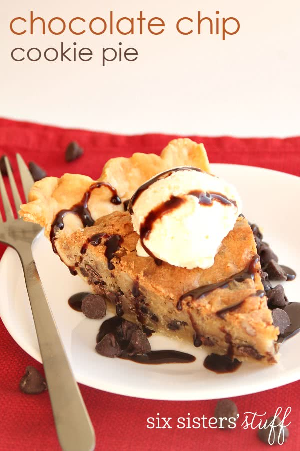 Chocolate Chip Cookie Pie 2