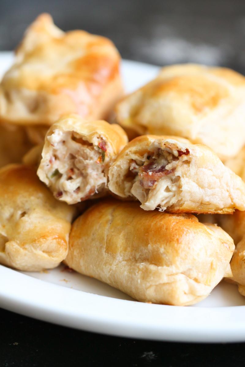 Creamy Chicken and Bacon Pockets Recipe