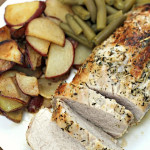 Herb-Crusted Pork Loin on SixSistersStuff.com