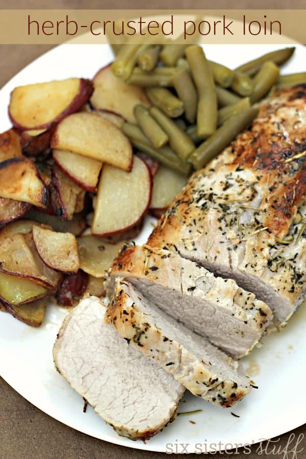 Herb-Crusted Pork Loin Roast