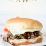 Philly Cheesesteak Sloppy Joes from SixSistersStuff.com