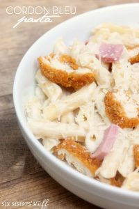 Simple Chicken Cordon Bleu Pasta