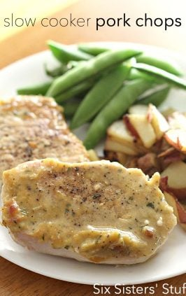 crock pot pork chops with veggies
