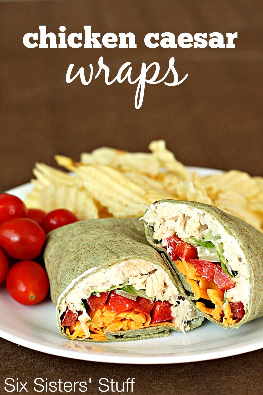 chicken caesar wraps recipe