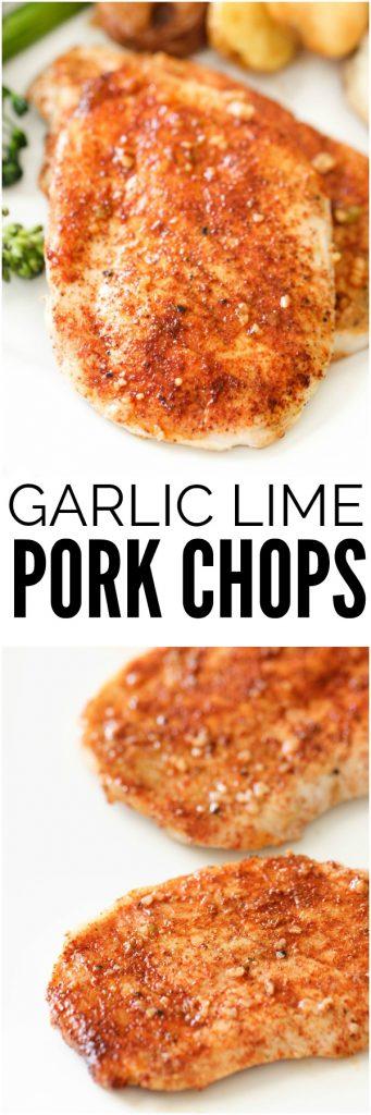 Garlic Lime Marinated Pork Chops | Six Sisters' Stuff
