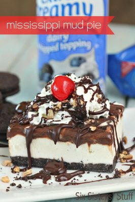 {No Bake} Mississippi Mud Ice Cream Pie
