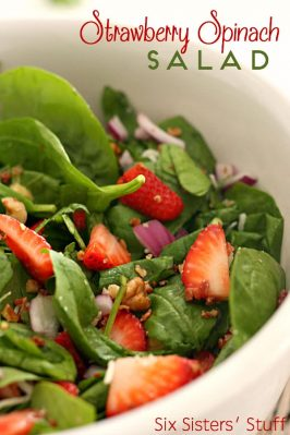 Strawberry Spinach Salad and Homemade Poppy Seed Dressing