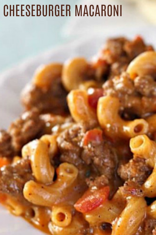 "macaroni and cheese recipe ""cheeseburger macaroni"""