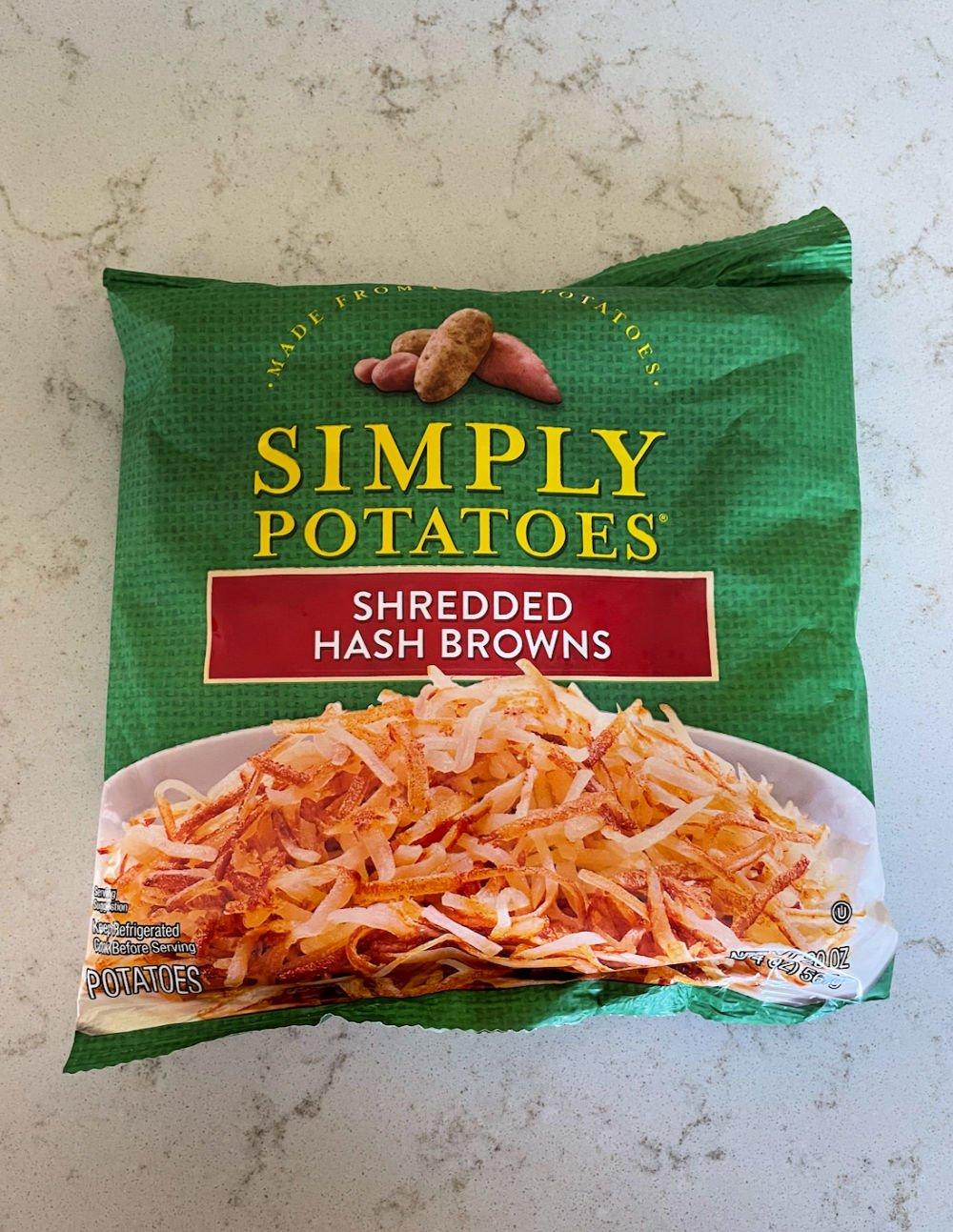 1 bag of Simple Potatoes Shredded Hash Browns