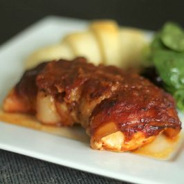 Delicious Slow Cooker Bacon-Wrapped BBQ Chicken