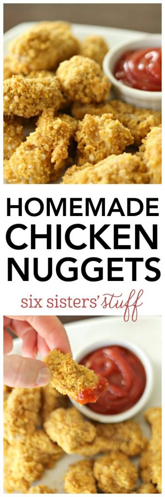 Homemade Chicken Nuggets - SixSistersStuff