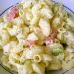 traditional american macaroni salad