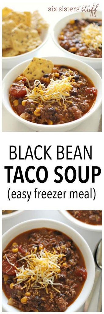 Black Bean Taco Soup from SixSistersStuff