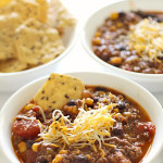 Black Bean Taco Soup in bowl on Six Sisters Stuff