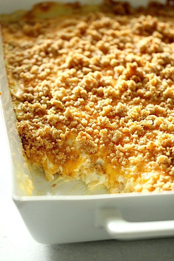 Best Cheesy Hashbrown Potato Casserole {Funeral Potatoes}