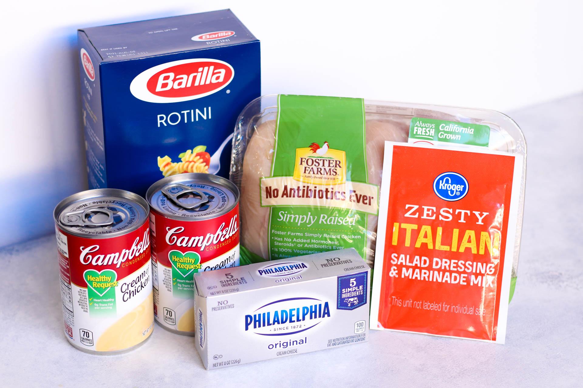 Ingredients for Slow Cooker Italian Chicken