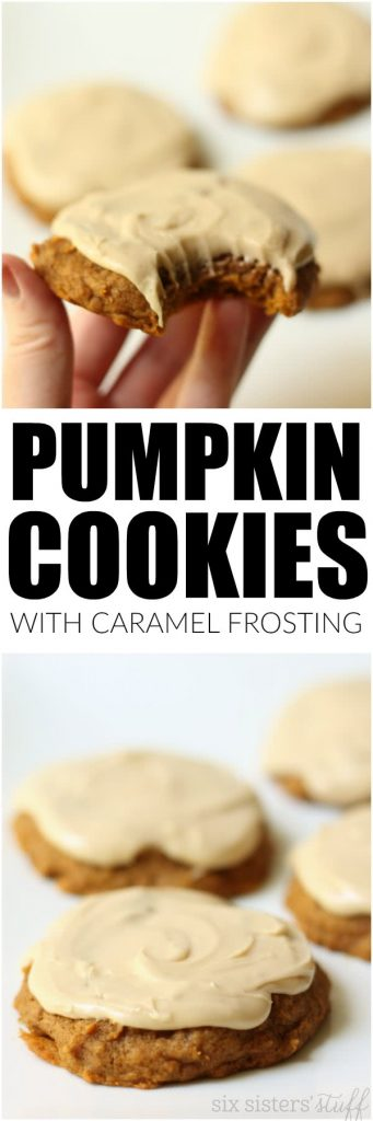 Pumpkin cookies and caramel frosting six sisters