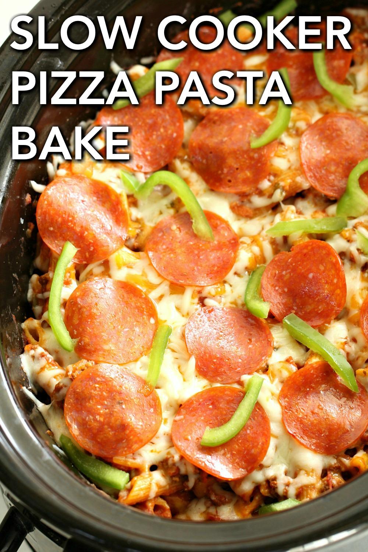 Slow Cooker Pizza Pasta Bake Recipe