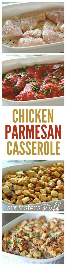 Chicken Parmesan Casserole on SixSistersStuff