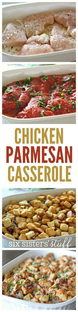 Chicken Parmesan Casserole on SixSistersStuff