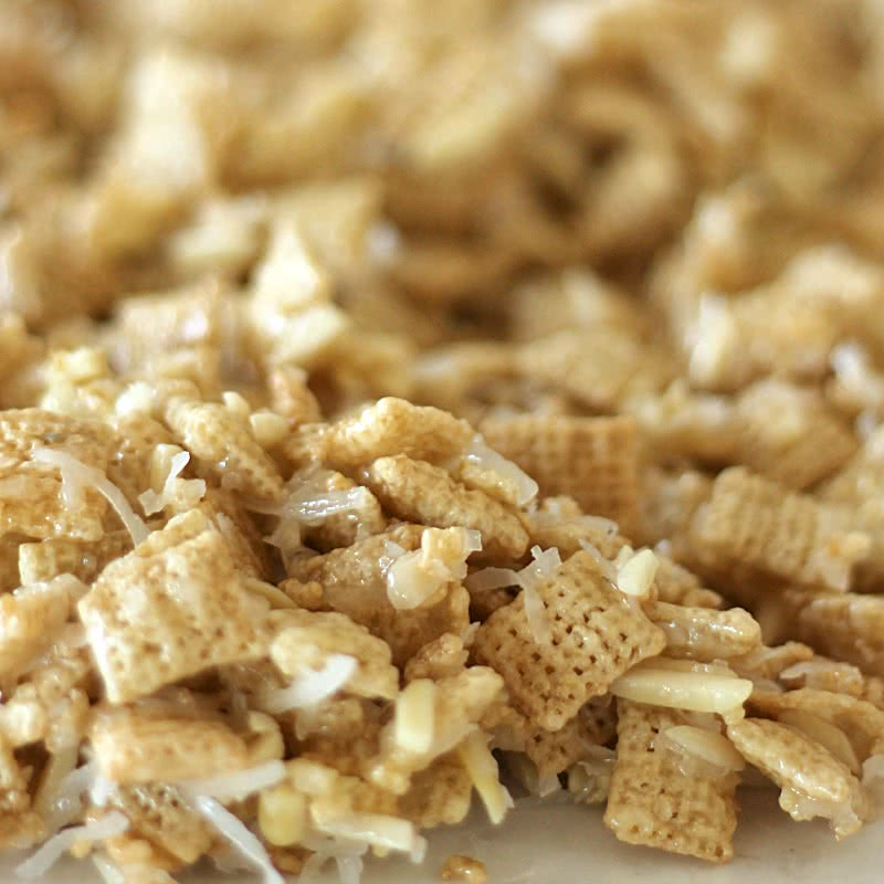 Coconut and Almond Chex Mix from SixSistersStuff.com