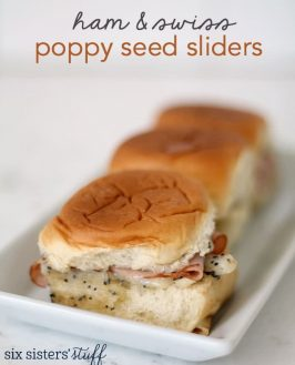 Ham and Swiss Poppy Seed Sandwich Sliders
