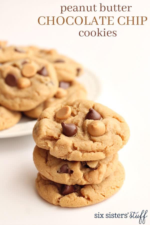 Classic Peanut Butter Chocolate Chip Cookies Recipe