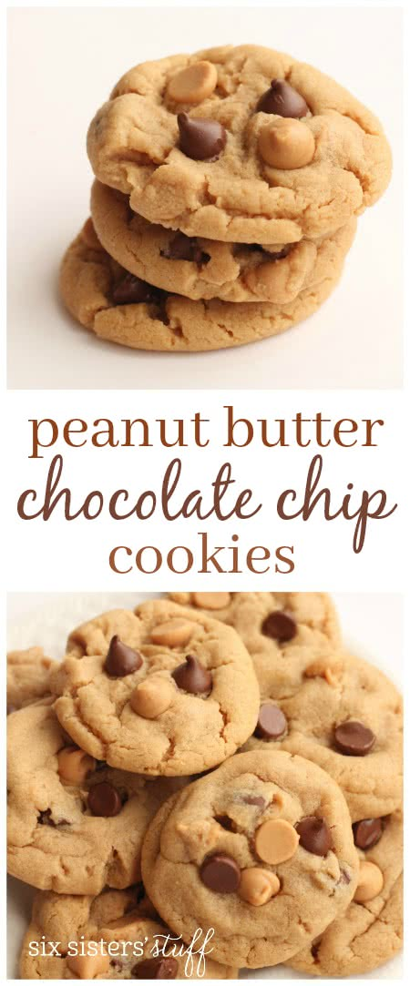 Peanut Butter Chocolate Chip Cookies 3