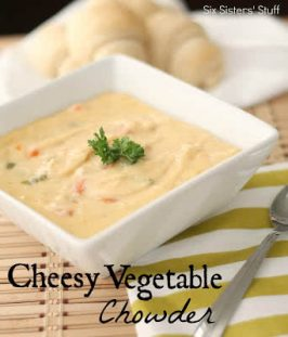 Cheesy Vegetable Chowder Recipe (Freezer Meal)