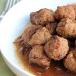 Slow Cooker French Onion Meatballs from Six Sisters' Stuff