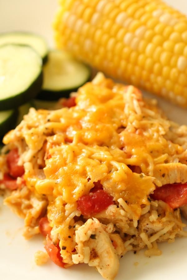 Low Fat Tex-Mex Chicken and Rice Casserole Recipe