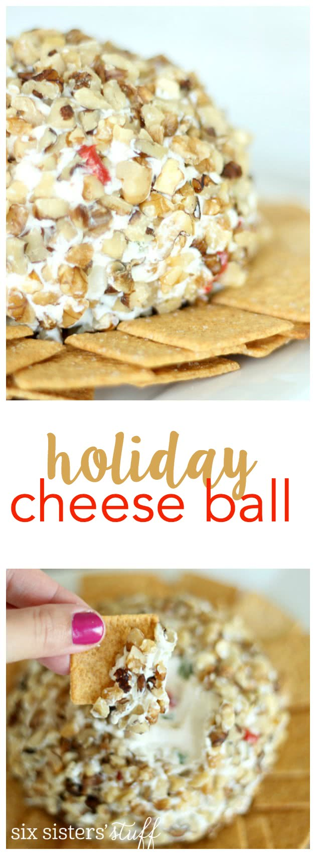 This cheese ball is perfect for your next holiday party! SixSistersStuff.com