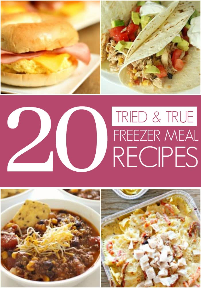 Tried and true freezer meal recipes