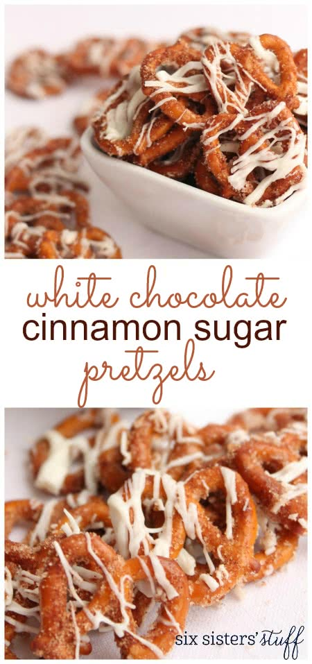 White Chocolate Cinnamon Sugar Pretzels 3
