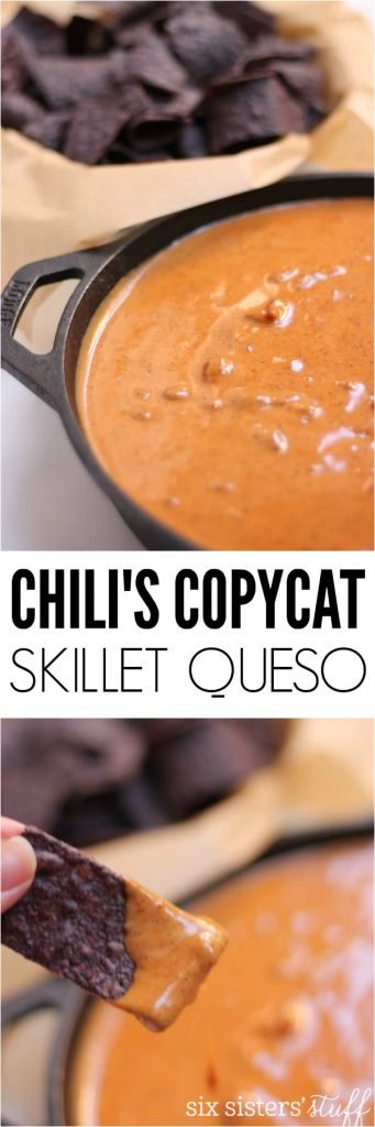Chili's Copycat Skillet Queso - Six Sisters' Stuff