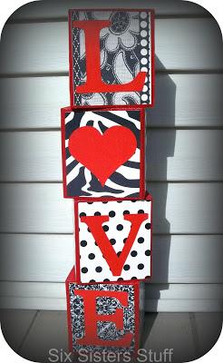 Easy Valentines Love Blocks Tutorial