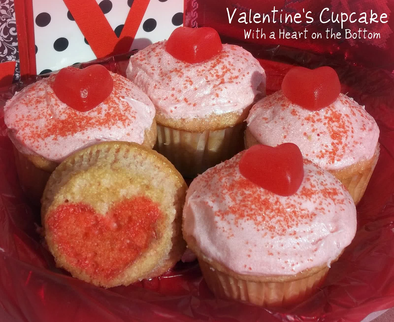 Valentine's Cupcakes with a Heart on the Bottom